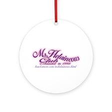 MsHelaineous Club Ornament (Round)