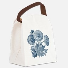 Blue Flowers Canvas Lunch Bag
