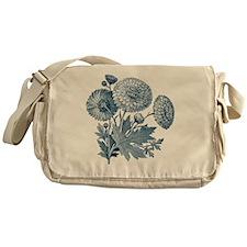 Blue Flowers Messenger Bag