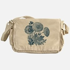 Blue Flowers Messenger Bag