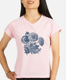 Blue Flowers Performance Dry T-Shirt