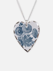 Blue Flowers Necklace