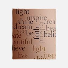Inspired Words Throw Blanket