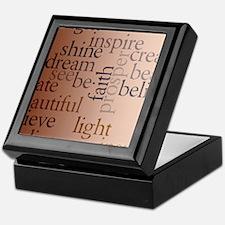 Inspired Words Keepsake Box