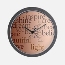Inspired Words Wall Clock