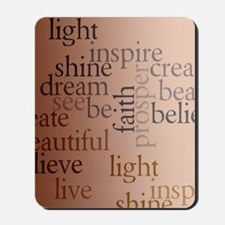 Inspired Words Mousepad
