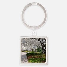Cherry Blossoms 10X9 Square Keychain