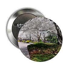 "Cherry Blossoms 17X15 2.25"" Button"