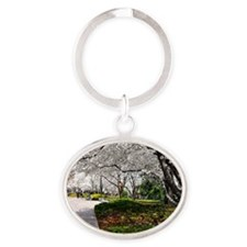 Cherry Blossoms 17X15 Oval Keychain