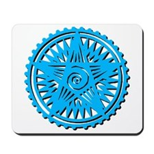 Earth Symbol Lite Blue Mousepad