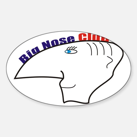 big nouse club Sticker (Oval)