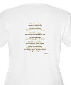 Golden Ohm & Buddha Quote T-Shirt