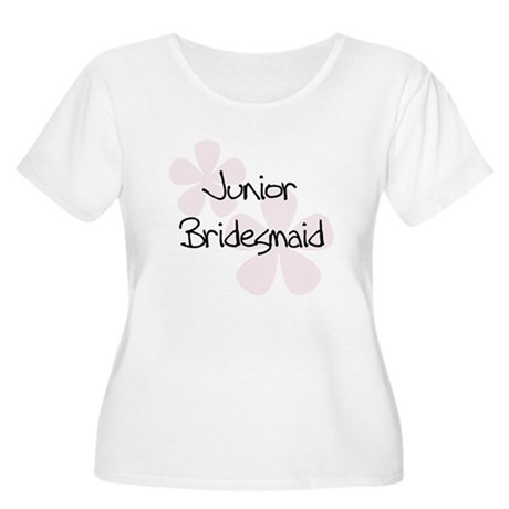Jr. Bridesmaid Pink Women's Plus Size Scoop Neck T