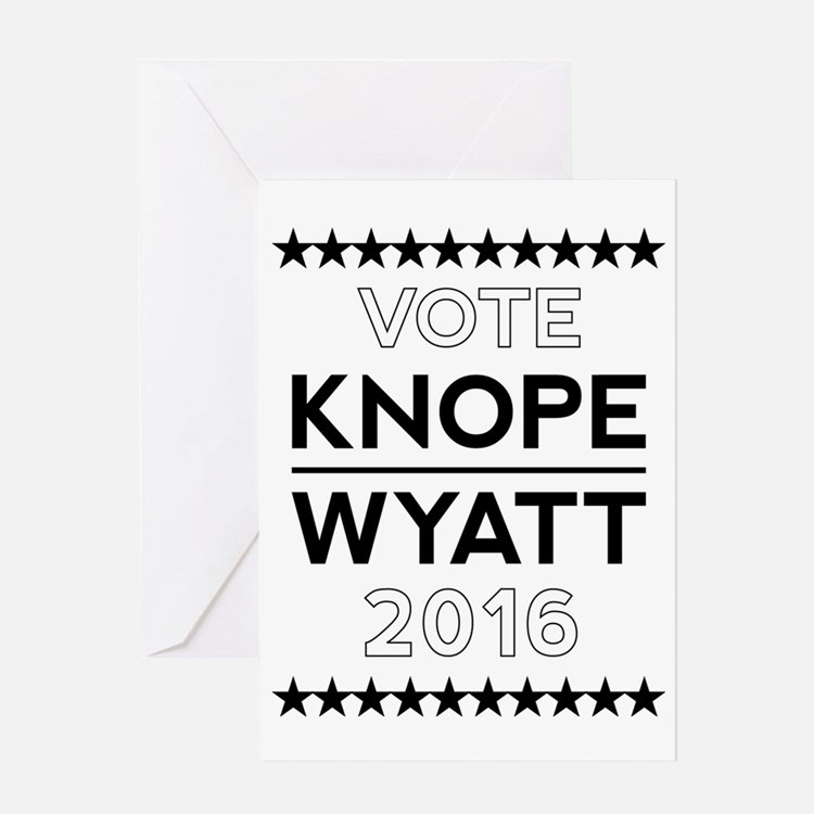 Knope/Wyatt 2016 Campaign Greeting Card