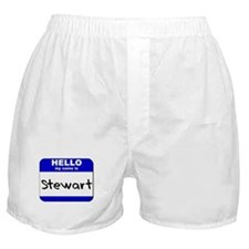 hello my name is stewart  Boxer Shorts