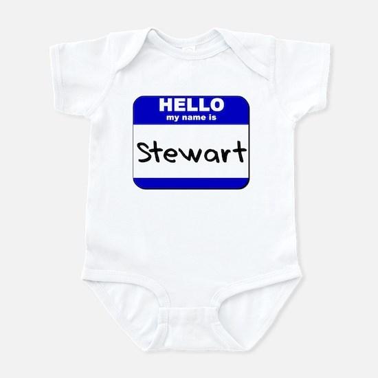 hello my name is stewart  Infant Bodysuit