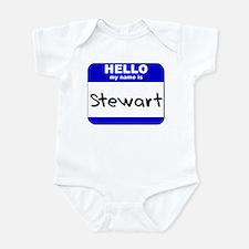 hello my name is stewart  Onesie