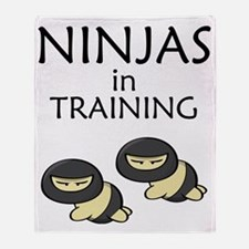 Ninjas in Training Throw Blanket