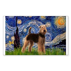 Starry Night - Airedale #6 Decal