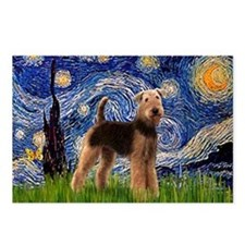 Starry Night - Airedale #6 Postcards (Package of 8