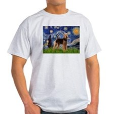 Starry Night - Airedale #6 T-Shirt