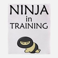 Ninja in Training Throw Blanket