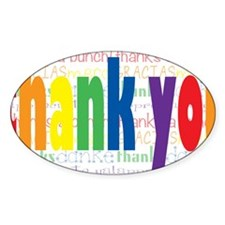 Rainbow Thank You Greeting Decal