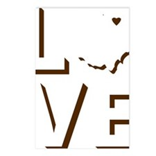 Love Ohio Brown Postcards (Package of 8)