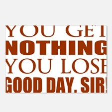 You Lose Good Day Sir Postcards (Package of 8)
