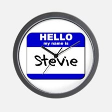 hello my name is stevie  Wall Clock
