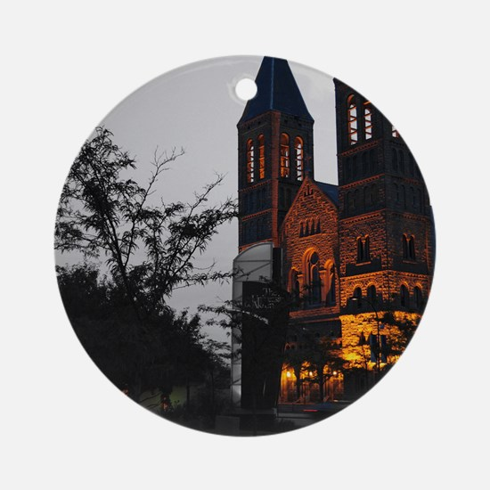 Cathedral Akron Round Ornament