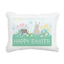 Bunny  Friends Rectangular Canvas Pillow
