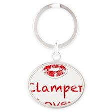 Clamper Lover design Oval Keychain