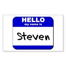 hello my name is steven Rectangle Decal