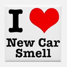 I Heart (Love) New Car Smell Tile Coaster