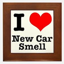 I Heart (Love) New Car Smell Framed Tile