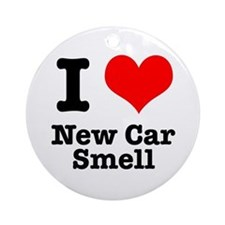 I Heart (Love) New Car Smell Ornament (Round)