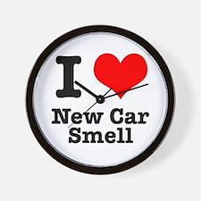 I Heart (Love) New Car Smell Wall Clock
