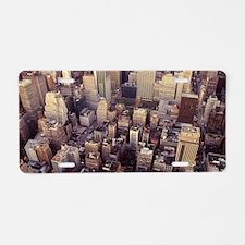 New York City/Manhattan aer Aluminum License Plate