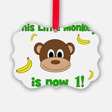 This Little Monkey is Now 1! with Ornament