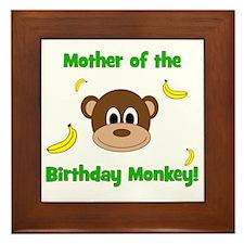 Mother of the Birthday Monkey! Framed Tile