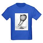 Thuringer Pouter Pigeon Kids Dark T-Shirt