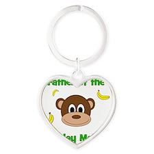 Father of the Birthday Monkey! Heart Keychain