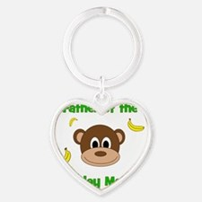 Father of the Birthday Monkey! Heart Keychain