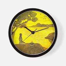 Moon Over My Geckos Too Wall Clock