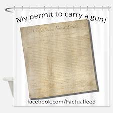 Gun Permit Shower Curtain