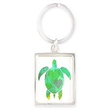 GREEN SEA TURTLE Portrait Keychain