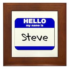 hello my name is steve  Framed Tile