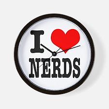 I Heart (Love) Nerds Wall Clock