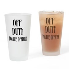 Off Duty Police Officer Drinking Glass